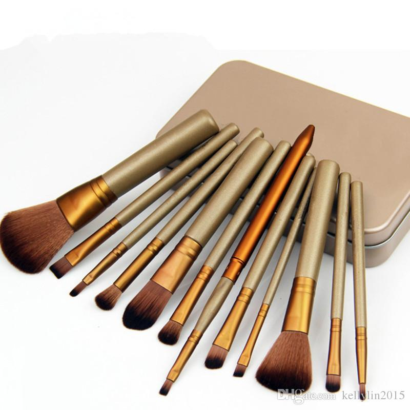 Professional Makeup Brushes Set Kit 12 pcs Cosmetics Brush for Eyeshadow Facial Foundation Make up Brushes Tools with Retail Box