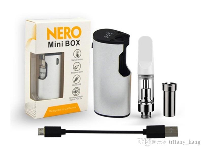 Kit mini vacchetta preriscaldamento Nero originale VV 650mah Batteria pulsante pisolino con attacco magnetico TH205 filetto kit portatile E-cig