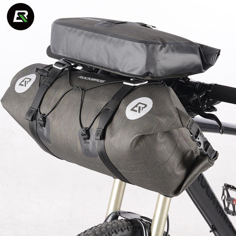 Fahrradtaschen Wasserdichte Fahrrad-Frontrahmen Beutelhalter Reflektierender NEU