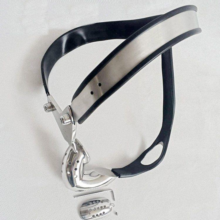 High Quality Stainless Steel Male Chastity// Belt Back Cable PA Hook Device