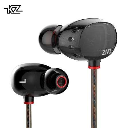 KZ ZN1 Özel Kulaklık Çift Sürücü Kulak İçi Kulaklıklar HiFi Gürültü Mikrofon Ile Stereo Kulaklık Iptal Oyun Kulaklık