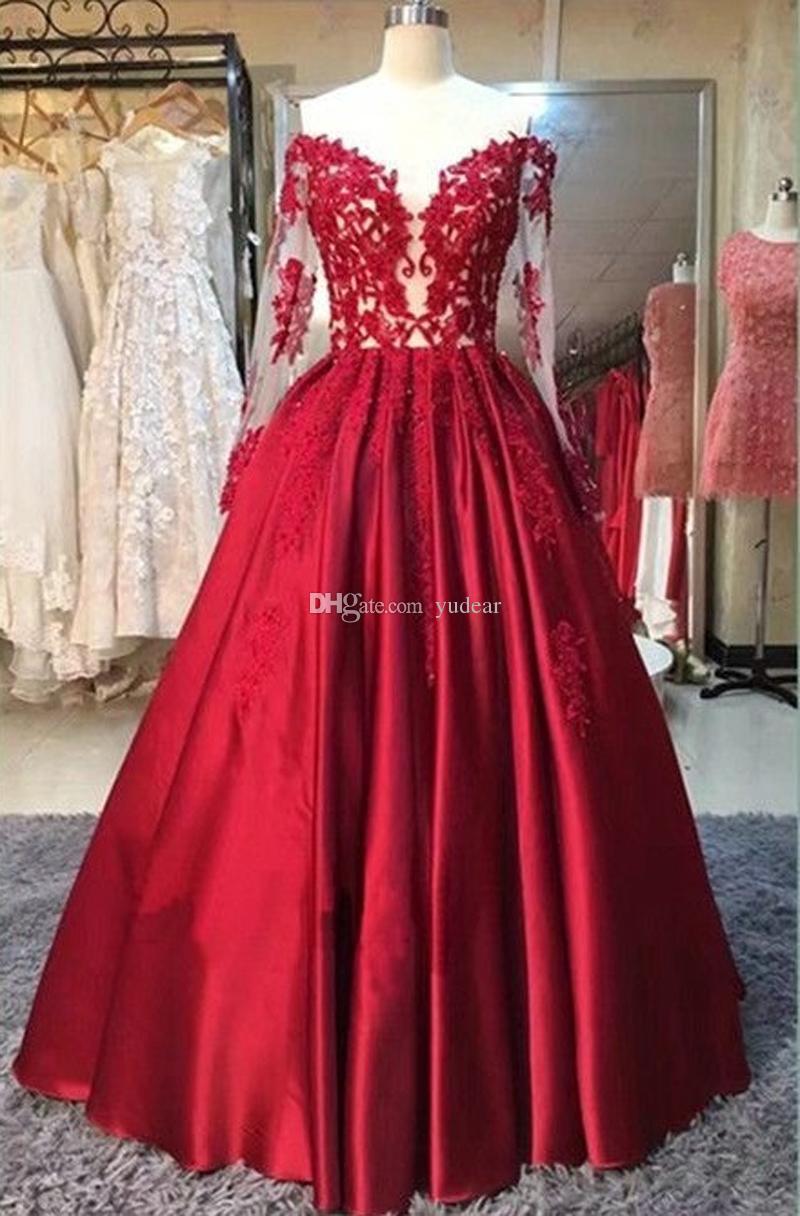 Compre Princesa Fuera Del Hombro 2019 Mujeres Vestidos De Noche Vino Rojo Satinado Con Cordones Vestidos De Fiesta Una Línea De Longitud Del Piso
