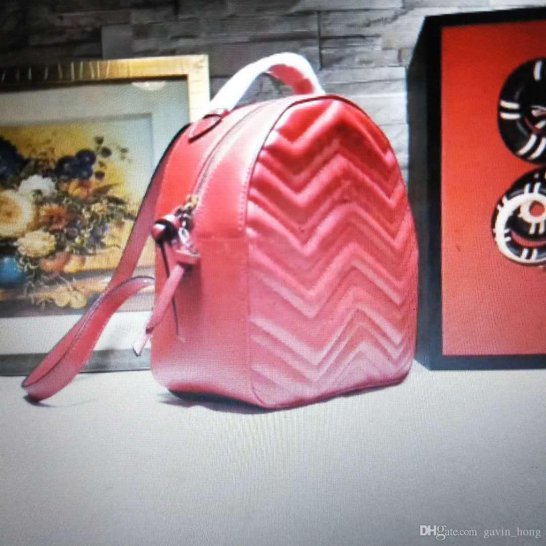 Tasarımcı Çanta Kalite Sırt Çantası Çanta Sırt Çantası Lüks Yüksekliği Inek Derisi Markalar Marmont Gerçek Orijinal Ünlü Hakiki Deri Lüks Backpa Qgee