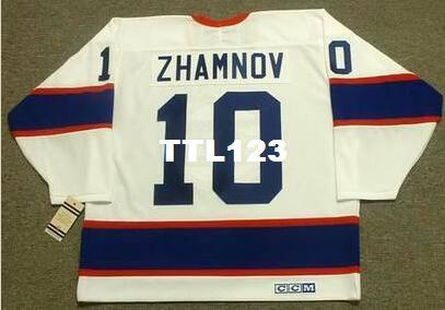Men # 10 ALEX ZHAMNOV Winnipeg Jets 1993 CCM Vintage Home Away Home Hockey Jersey o personalizzato qualsiasi nome o numero Retro Jersey