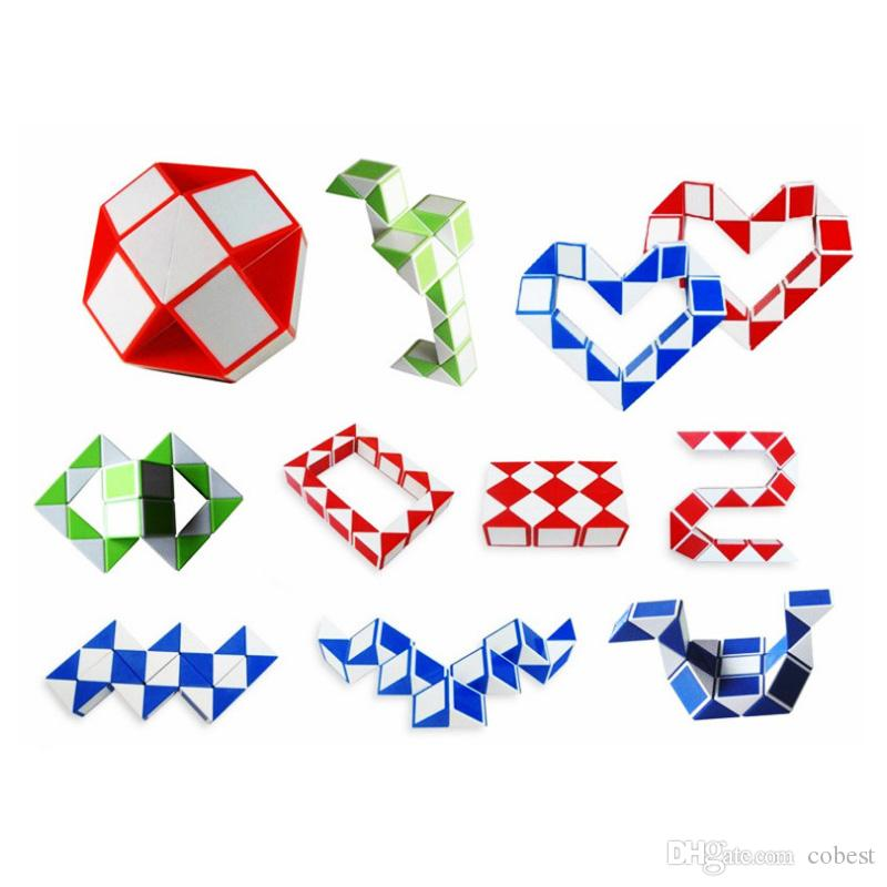 Küp Mini Sihirli Küp Çocuklar Yaratıcı 3D Bulmaca Yılan Şekli Oyun Oyuncaklar 3D Küp Bulmacalar Büküm Bulmaca Oyuncaklar Rastgele Zeka hediye