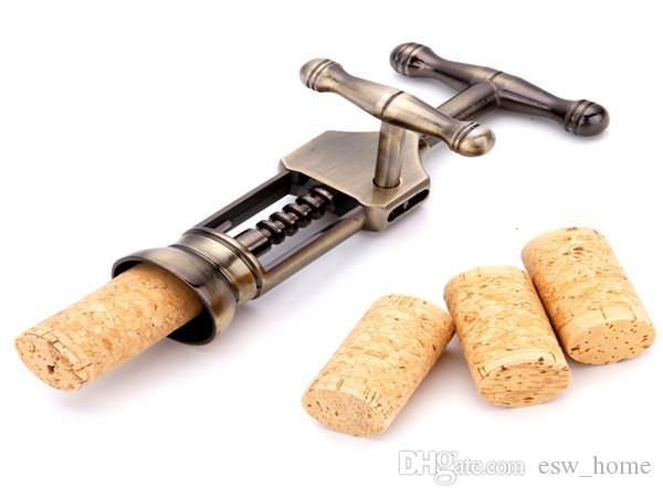 Вино открывалка для бутылок новый ретро Красный цинковый сплав античная бронза штопор пробка съемник Remover шампанское открывалка поворотный рычаг бар инструмент