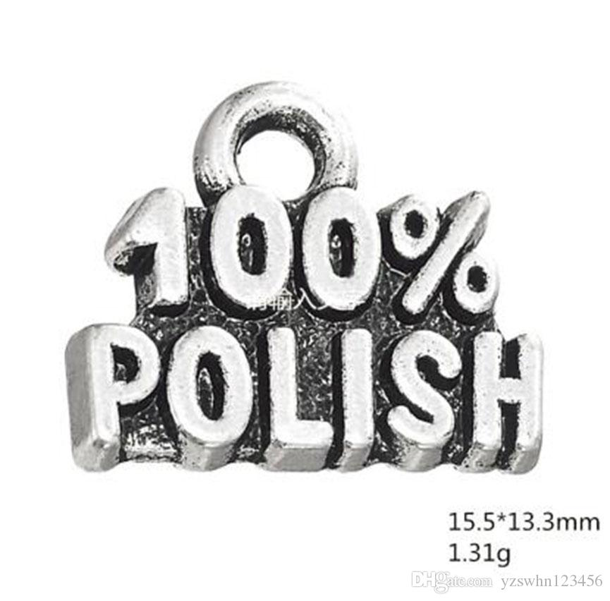 Silver Plated 100% Polish words message charms Fit For DIY Bracelets & Necklace Making Jewelry Findings
