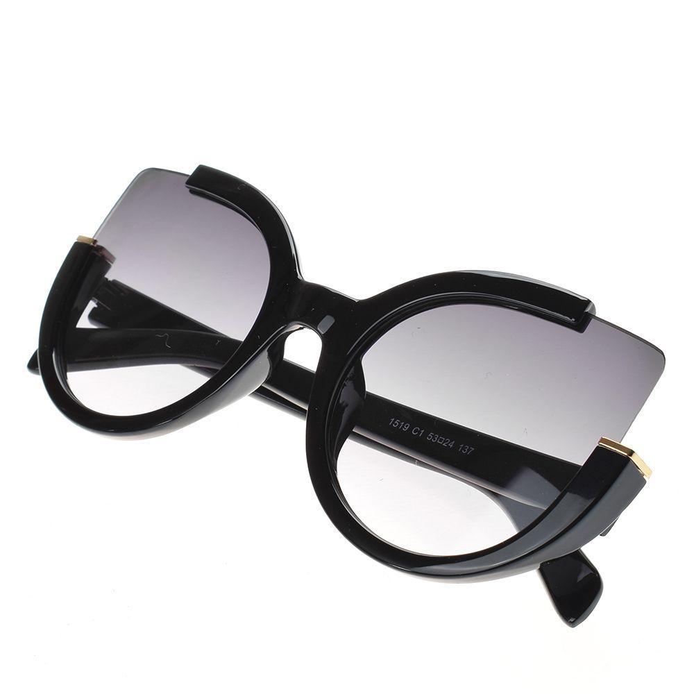 2018 moda sexy ladies cat eye óculos de sol das mulheres designer de marca meia armação do vintage óculos de sol feminino retro eyewear uv400