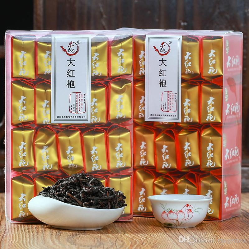 125g Chinese Da Hong Pao tea Hardcover packaging bag Robe oolong black tea green food da hong pao health care dahongpao tea