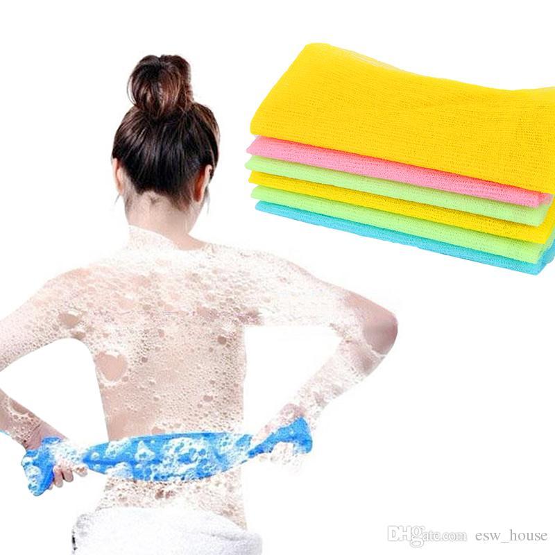 Nylon Mesh Bath Shower towel Body Washing Clean Exfoliate Puff Scrubbing Towel Cloth Scrubber Soap Bubble For The Bath