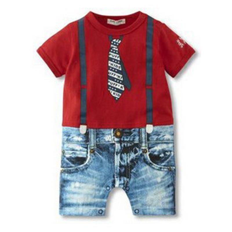 2018 Baby Boy Pagliaccetti Estate Baby Boy Set di abbigliamento Neonato Vestiti Gentleman Boy Abbigliamento Roupas Bebes Tute Infantili
