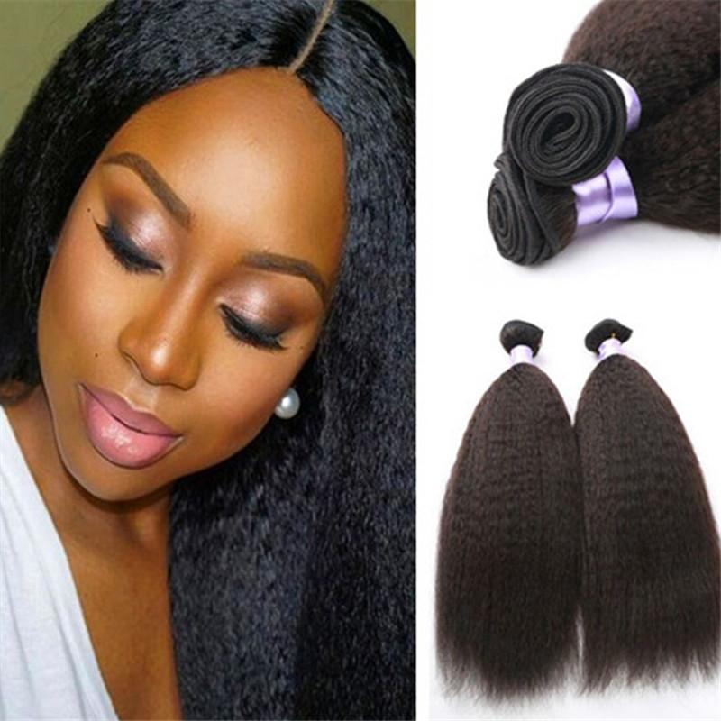 3 묶음 브라질 야키 스트레이트 변태 스트레이트 헤어 아프리카 변태 버진 인간의 머리카락 위브 온라인 도매