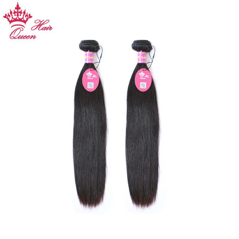 Queen Hair Products Brasilianische Jungfrau Menschliche Haarverlängerung Gerade 2 stücke Webart DHL Schneller Versand