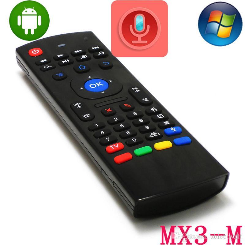 X8 미니 무선 키보드 플라이 에어 마우스 원격 G 감지 자이로 스코프 센서 MIC 콤보 MX3-M에 대한 MX3 MXQ S905 STB 안드로이드 TV BOX