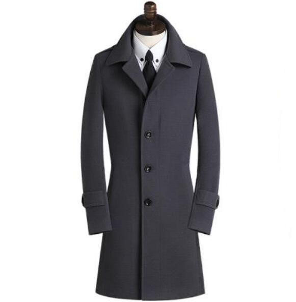 Großhandel Casual Einreiher Wollmantel Männer Trenchcoats Mantel Herren Kaschmirmantel Casaco Masculino England Schwarz Khaki Grau 9XL Von Dayup,