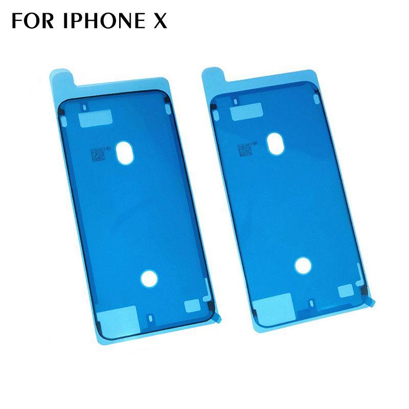 10 PC Großhandelsgehäuse-Klebeband-Kleber für iphone X wasserdichten Aufkleber LCD-Touch Screen Rahmen-Kleber für iPhone 8 8 Plus