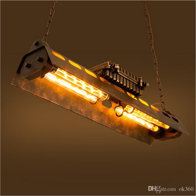 Americano Retro metal Led Luzes pendentes Edison Lâmpadas Sala de jantar Led Luz Pingente Loft Led luminária de suspensão Luminárias