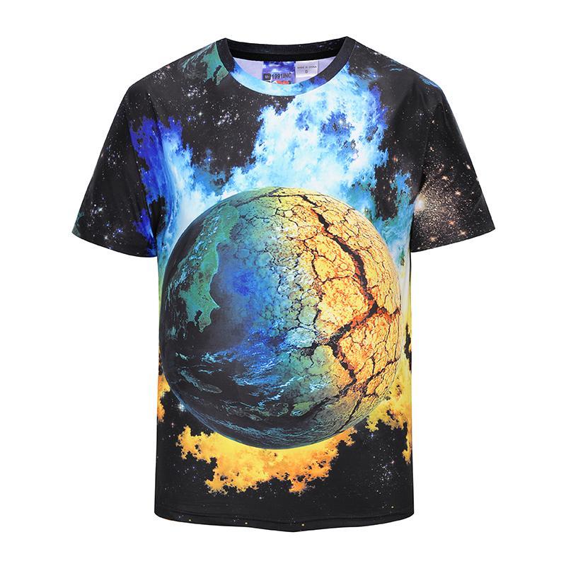 NC 2PCS Men T-Shirt 2018 Summer New fashion Wolf totem 3D printing T-shirt street fashion men's clothing Boy tees