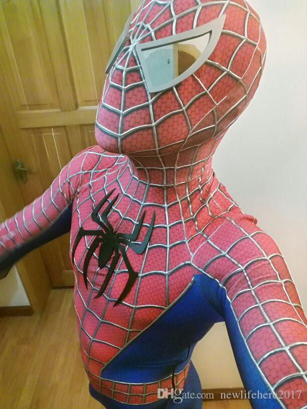 Original toby Spiderman costume Adult and Kid Hallween 3D spandex zentai suit