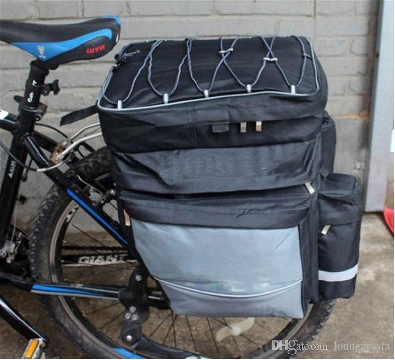 Cremalheira Ciclismo Mountain Bike traseiro do assento Bag Outdoor bolsa de viagem de bicicleta Bicicleta três em um Bags Tronco Panniers 40ql dd