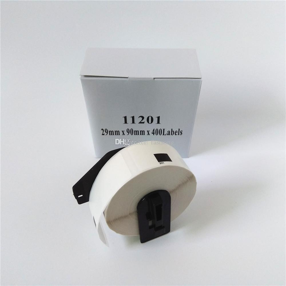 90 x Rolos Brother DK-11201 DK 11201 DK11201 DK-1201 DK 1201 DK1201 Etiquetas compatíveis cada rolo com carretel de suporte de plástico preto