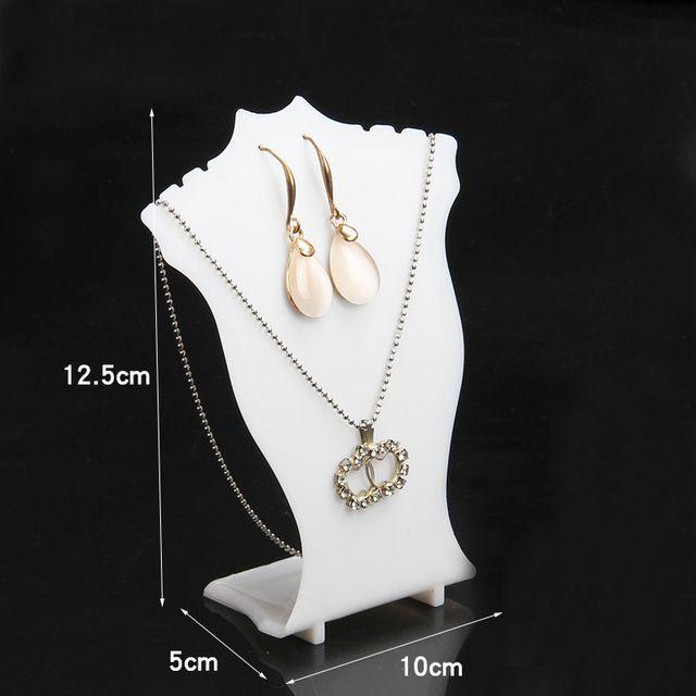 TONVIC 8 Белый / Черный / Морозный пластиковый L Форма Подвеска Серьги Китай Ожерелье Подставка для стендов для фабрики на 3 шт.
