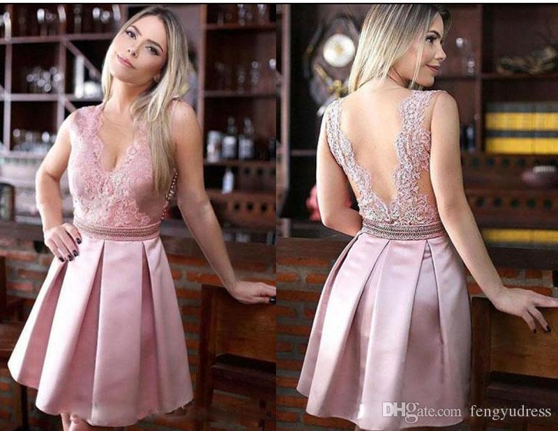 Più nuovo stile abiti da ritorno a casa su misura abiti da cocktail eleganti abiti da sposa in pizzo abito da ballo senza maniche