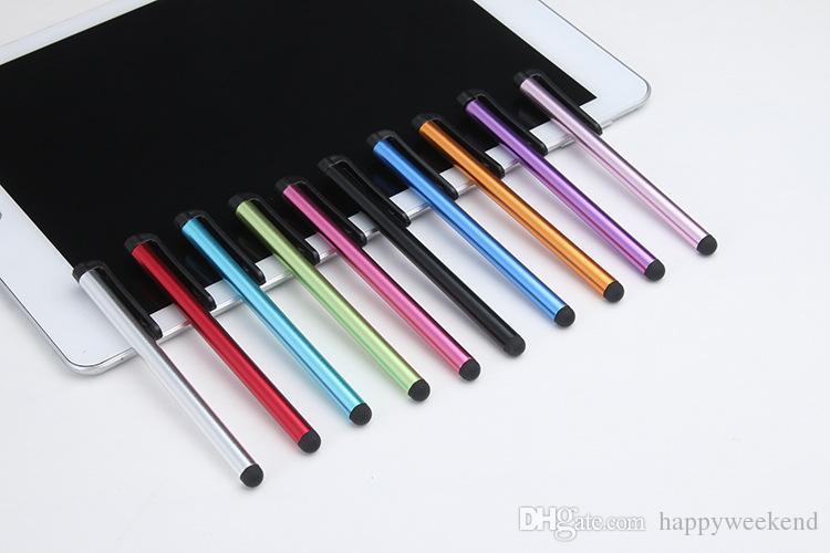 Stock Fine Metal Mesh Microfibre Stylus Astuce Écran Tactile Mini Stylet Pour iPhone pour Samsung Smart Phone Tablet PC Ordinateur