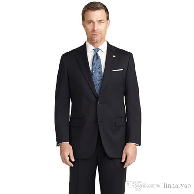 2018 Custom Made Black Wedding men Suits latest coat pant designs Two Buttons men suit Back Vent Cheap Groom Wear costume homme