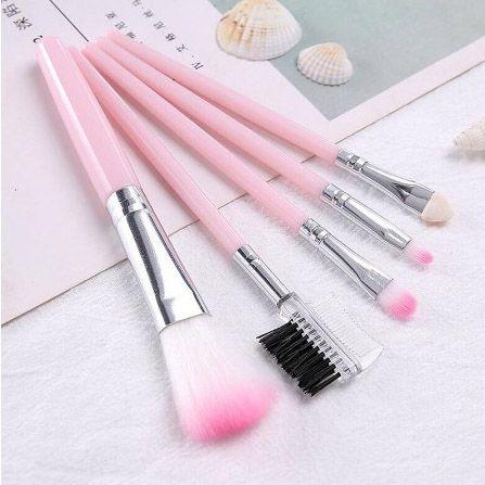 5 Pcs / lot rosa Professional grupo de escova Boa Qualidade compo escovas para iniciantes Beauty Kit Ferramentas