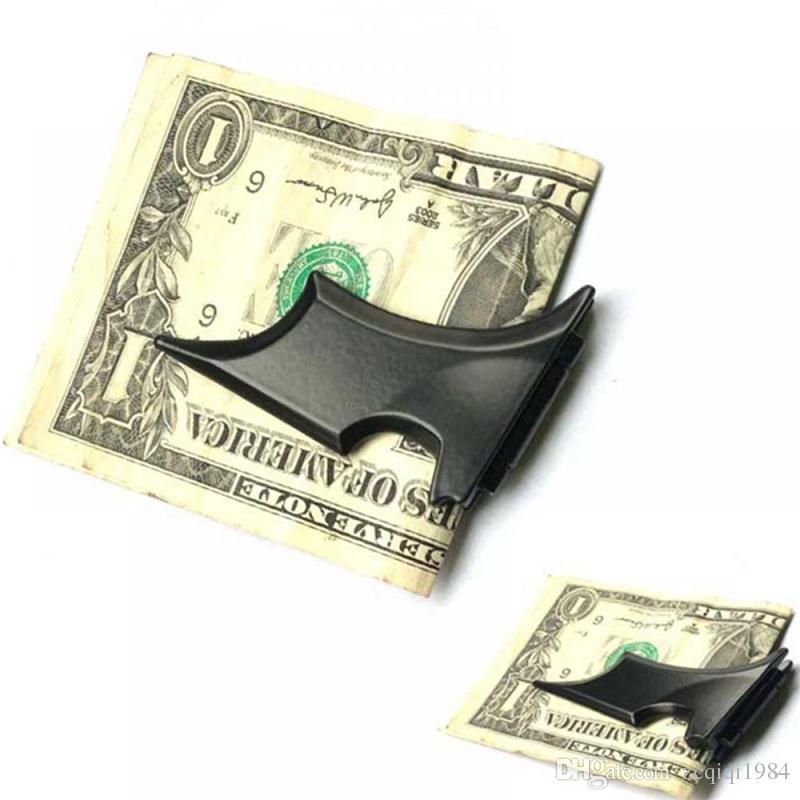 أحدث DIY الأسود الخفافيش المال كليب أزياء الفولاذ المقاوم للصدأ المال كليب سليم حامل المال المعدنية 3 ألوان