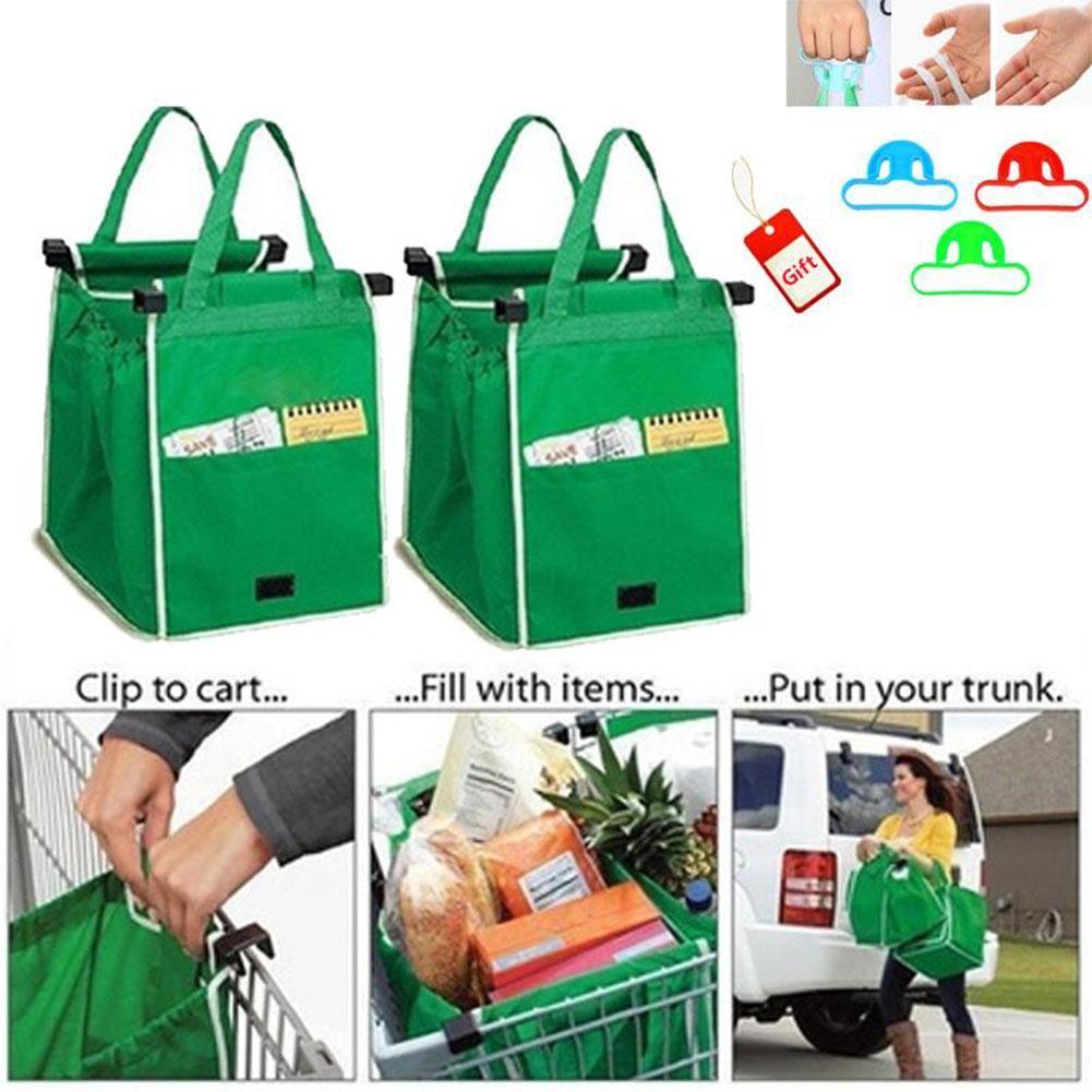 Yeni Kapmak Çanta Kullanımlık Ecofriendly Alışveriş Çantaları Bu Klipler Için Sepeti Katlanabilir Alışveriş Çantaları Kullanımlık Eko Alışveriş Tote 100 adet CNY675