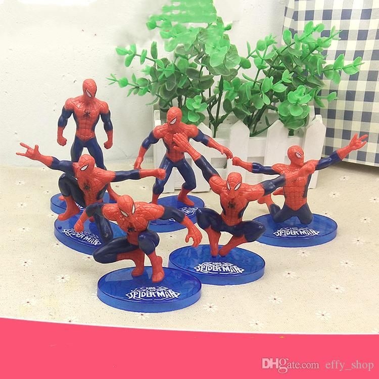 Swell 2020 Cartoon Spiderman Cake Boy Party Cupcake Toppers Picks Kids Funny Birthday Cards Online Unhofree Goldxyz
