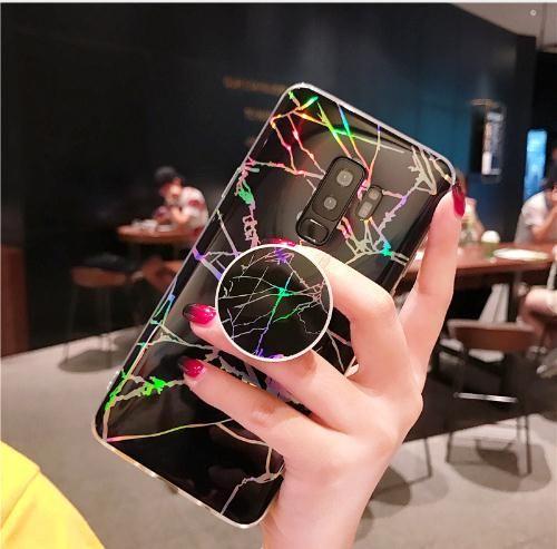 Coque Pour Samsung Galaxy Note 9 Note 8 Note9 Laser Marbre Texture Couverture En Silicone Souple Pour Samsung Galaxy S8 S9 Plus S7 Bord Cas Proposé ...