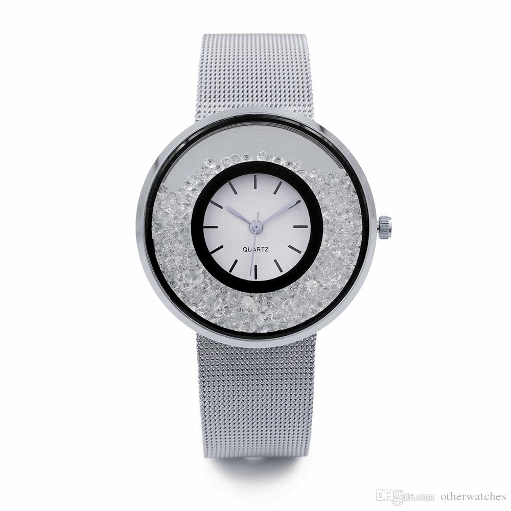 Wave Ring quicksand Ribbon Leisure General Ladies Watch Alloy Watch Wholesale Wristwatches
