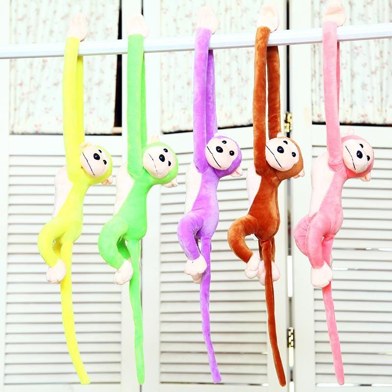5 Farben 60cm langer Arm-Affe vom Arm zum Schwanz Plüschtiere Bunter Affe RR