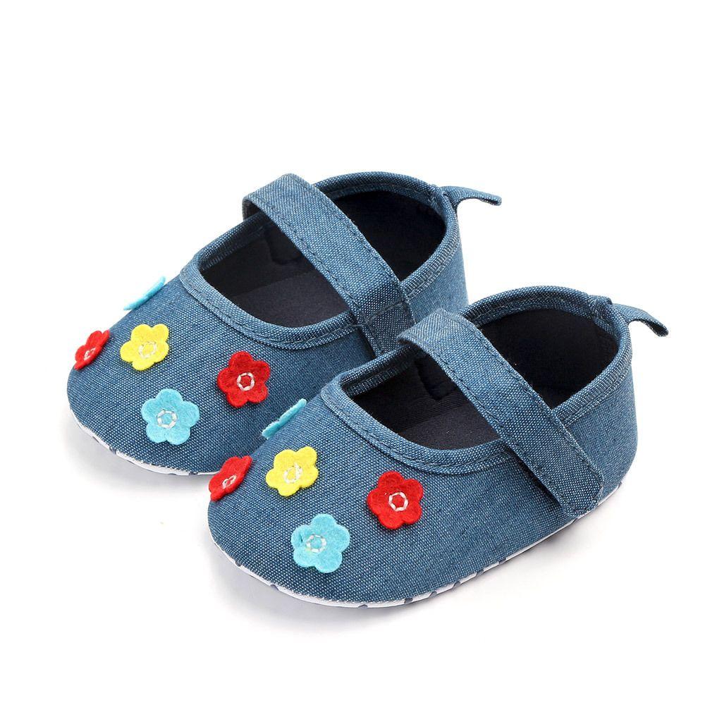 b70ba86059 2019 Lovely Flower Baby Newborn Toddler Girl Crib Shoes Pram Soft Sole  Prewalker Anti Slip Baby Princess Shoes From Angel_childhood, $3.05   ...