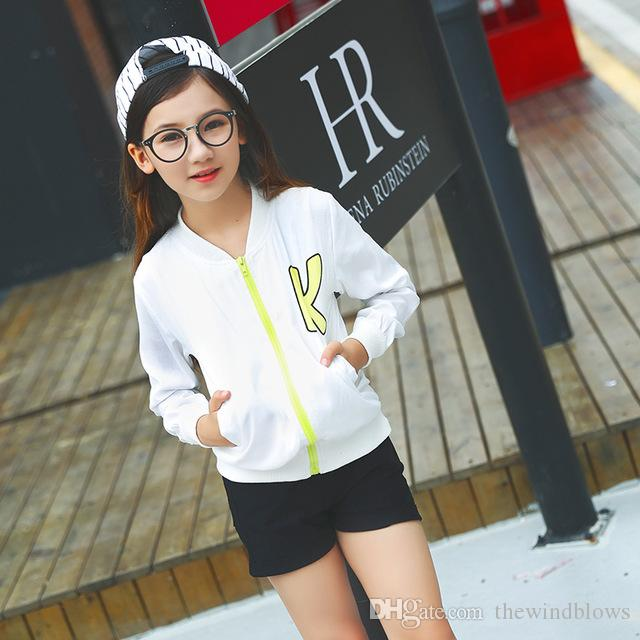 2018 Autumn Coat for Girls Tracksuit Cute Fall Outwear Windbreaker Teens Jacket for Kids Age 4 5 6 7 8 9 10 11 12T Years Old