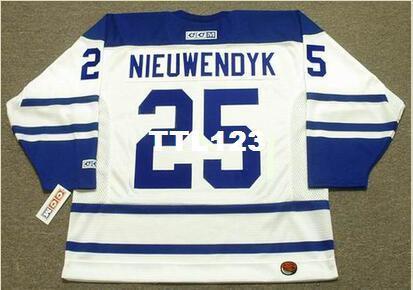 Мужские #25 Джо НЬЮВЕНДИК Торонто Maple Leafs 2003 CCM хоккей Джерси или пользовательские любое имя или номер ретро Джерси
