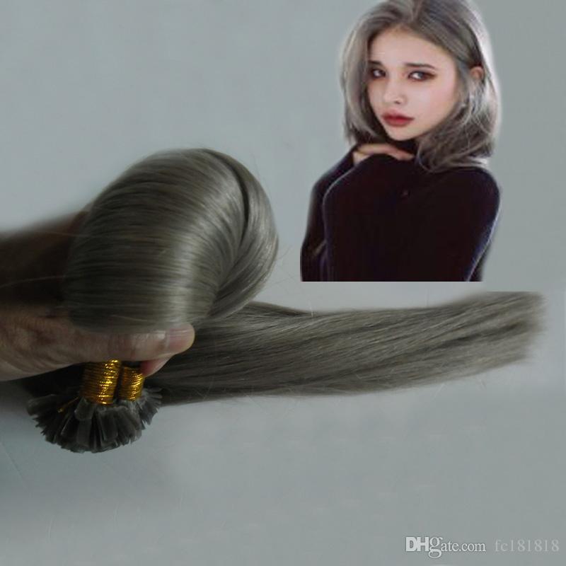 U Wskazówka Pre Bonded Remy Human Hair Extension Naturalne Proste Włosy U-Tip Ludzki Włosy Rozszerzenie