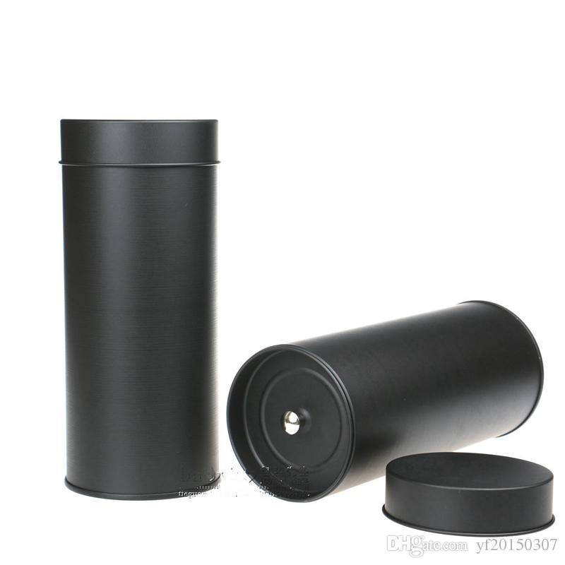 74x175mm Round Tea Tin Boxes Food Tin Cans with Inner Lid Tea Can Container Black Tea Can Wholesale