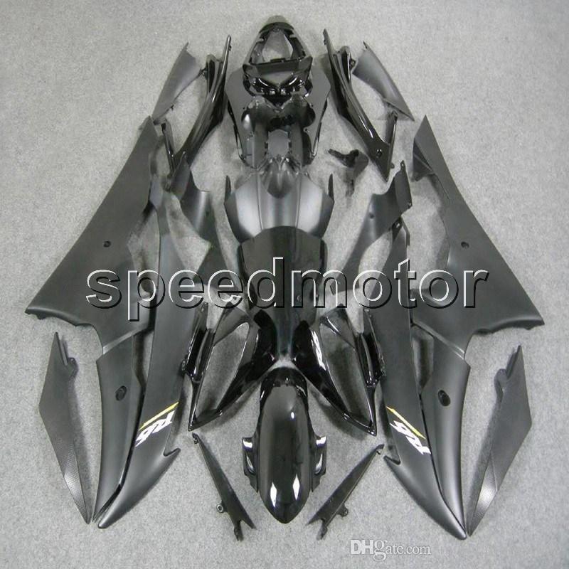 Personalizado + Tornillos Mate Negro YZFR6 08-12 YZF-R6 2008 2009 2010 2011 2012 carenado de motocicletas ABS para Yamaha