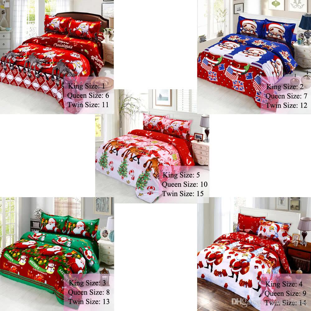 2020 Flat Bed Sheet Fitted Sheets Cotton Merry Christmas Santa Claus Bedding Set With Pillowcases Quilt Cover Twin Queen King Size From Yinke Home 21 81 Dhgate Com