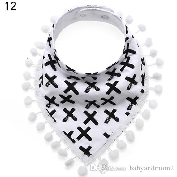 Baby INS Fox Bibs Burp Cloths 5 Designs Bandana Infant Saliva Cloth INS Triangle Bibs Newborn Burp Cloths with lace byDHL