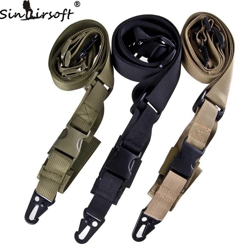 SINAIRSOFT Tactical 3 Point Quick Detach Sling Strap Release Three Point AR Sling Adjustable Tactical Airsoft Gun Strap for Hunting