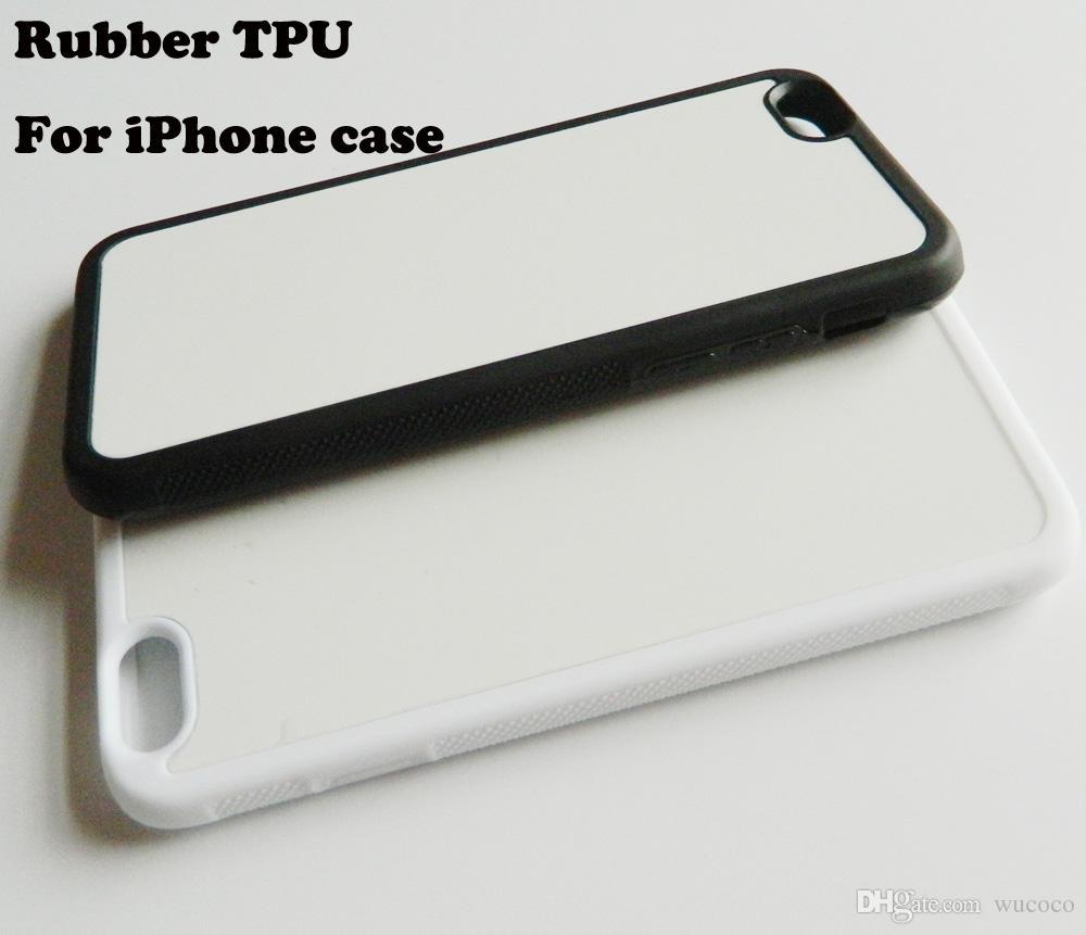 Coque Sublimation presse à chaud pour iPhone X 5 5s 6 7 8 plus Coque TPU en caoutchouc + plaque en aluminium 10 pièces / lot