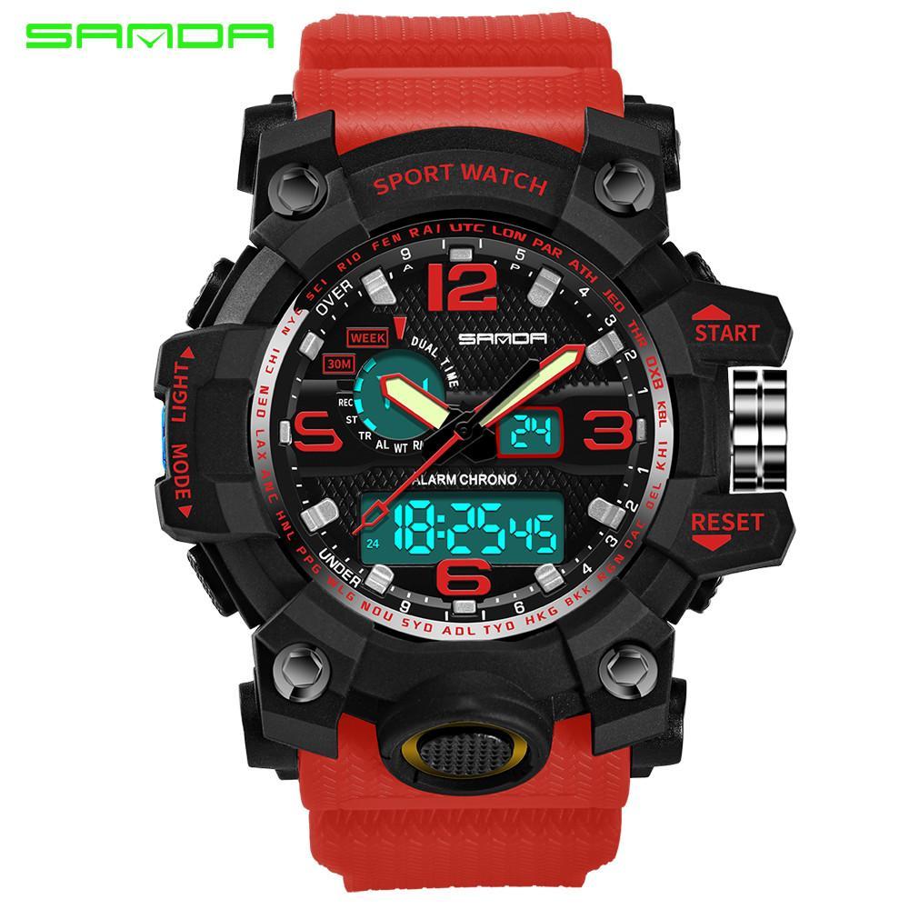Aimecor New Sale Men's Sport Digital Wristwatch Colourful Sport Watch Double Display Cold Light Electronic Waterproof