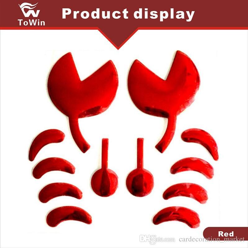 Estilo do carro 3D Adesivos Engraçados Big Crab Sticker em Decalques Automóvel Carro / Prata / Ouro / Vermelho / Motocicleta / Corrida / carros Elétricos.