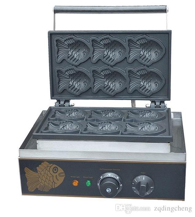 شحن مجاني ~ 220 فولت / 110 فولت السمك الهراء صانع / الهراء الدنمارك آلة كوكي آلة مصغرة taiyaki آلة