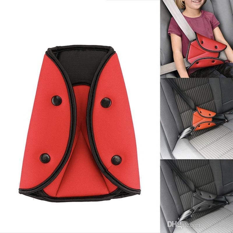 Crianças Titular Cinto de Segurança Do Carro Criança Regulador De Segurança Triângulo Triângulo De Segurança Do Bebê Cintos de Segurança Do Carro Ajustador Clipe de Acessórios